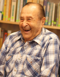 Laughing older adult